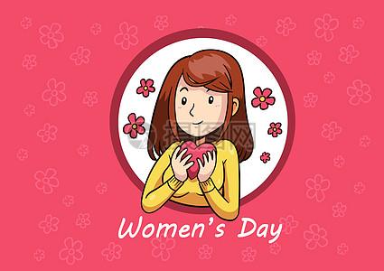 38妇女节女神爱心图片
