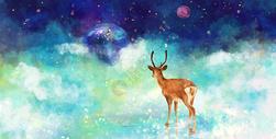 小鹿的幻想图片