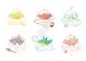 信封花束图片