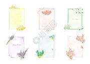 书信花束背景模板图片