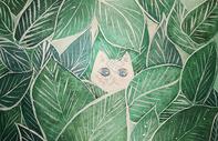 植物背景插画图片