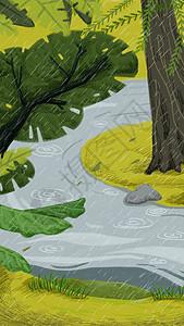 二十四节气清明插画图片