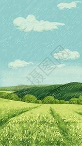 二十四节气谷雨插画图片