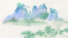 中国风唯美水彩画图片