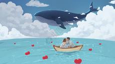 船上的情侣图片