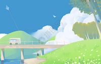 春天放风筝图片