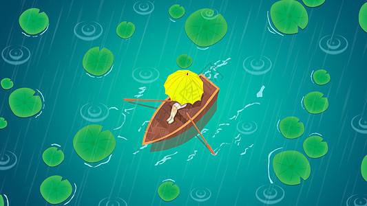 清新二十四节气谷雨插画图片