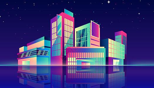 渐变城市建筑图片