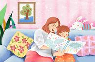 温馨母女图片