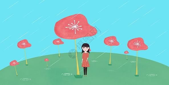 春天的雨图片