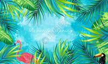 热带植物元素背景图片