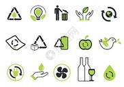 绿色环保节能图标图片