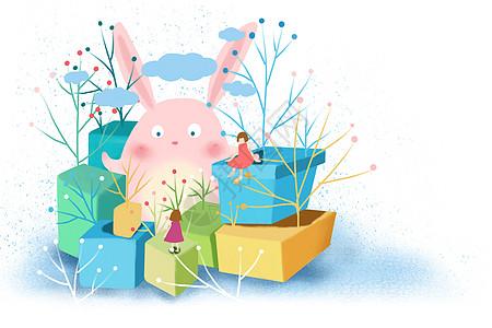 春天盒子奇趣壁纸图片