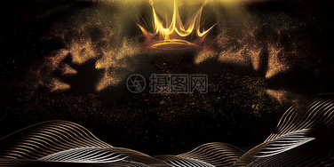 黑金皇冠背景图片
