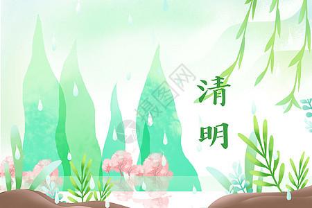 清明中国风背景图片