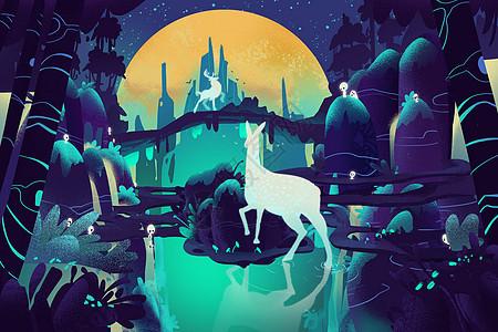 森之鹿图片