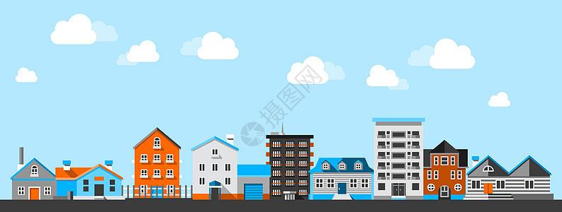 扁平化城市街道图片