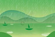 谷雨插画扁平简约风格图片