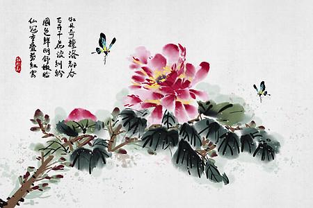 中国风牡丹花图片