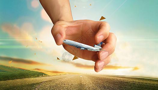 航空科技创意背景图片