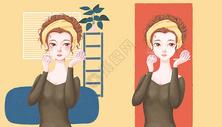 化妆的少女图片