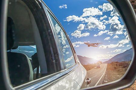 镜中航天飞机图片