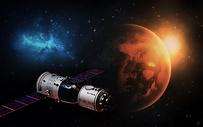 航空卫星科技背景图片