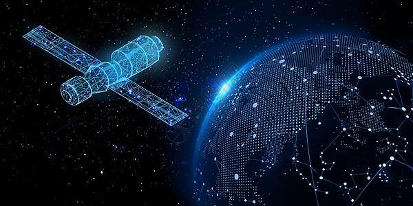 科技卫星与地球图片