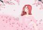 樱花树下美女图片