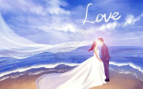 浪漫婚纱情人节图片