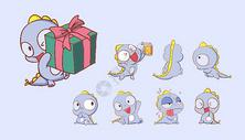 恐龙可爱卡通形象设计图片