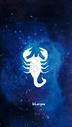 天蝎座十二星座系列插画图片