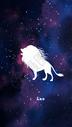 狮子座十二星座系列插画图片
