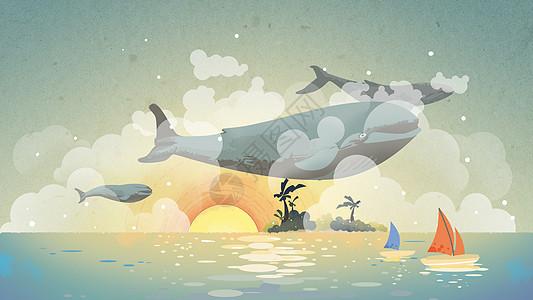 海与鲸鱼图片