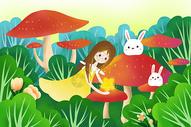 丛林深处的女孩图片
