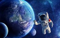 宇航员星空背景图片