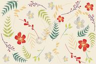 花卉植物元素背景图片