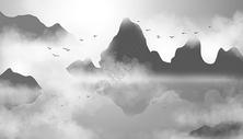 山水风景背景图片