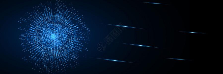 蓝色科技酷炫背景图片