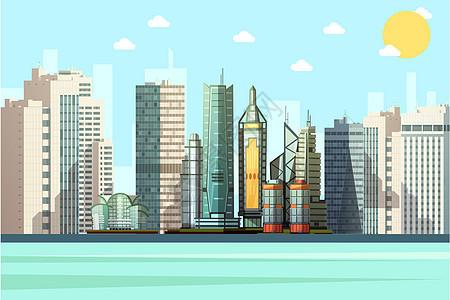 卡通城市矢量建筑图片