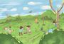 团体植树图片