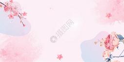 粉色花朵背景图片