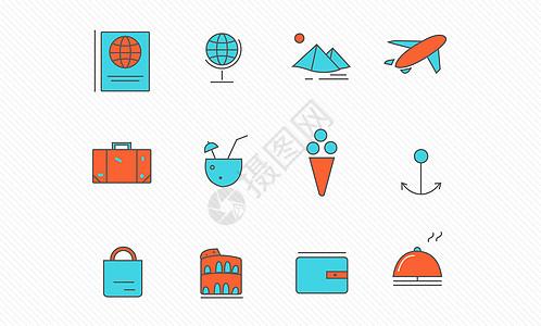 旅游图标图片
