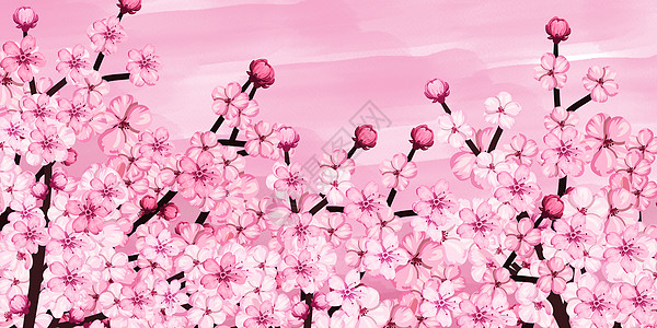 桃花背景图片