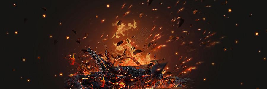 酷炫火焰背景图片