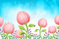 小清新花朵背景图片