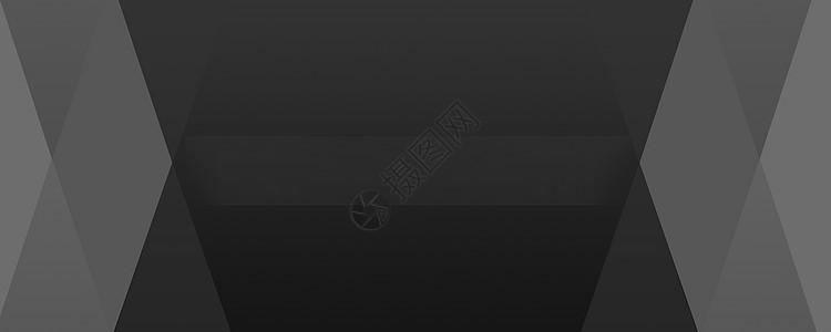 几何黑白灰商务背景图片