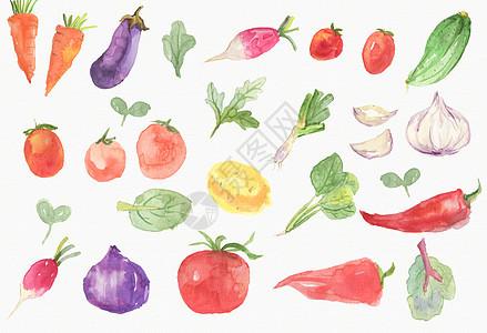 手绘蔬菜素材图片