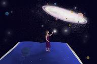 触摸星空图片