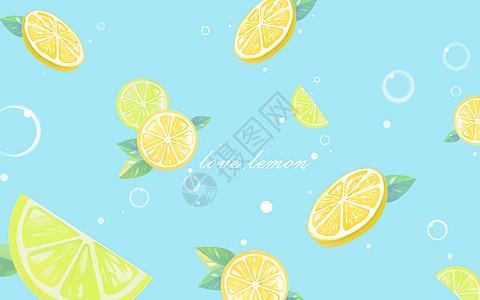 柠檬汽水背景素材图片